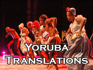 Yoruba translators and interpreters